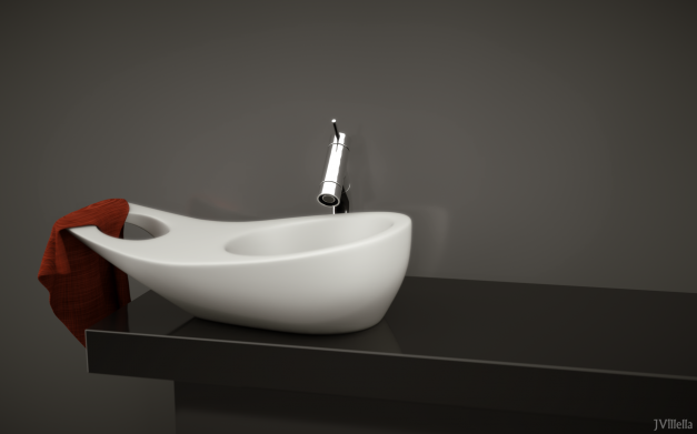 Model of bathroom sink by JVillella. I wan the real thing...