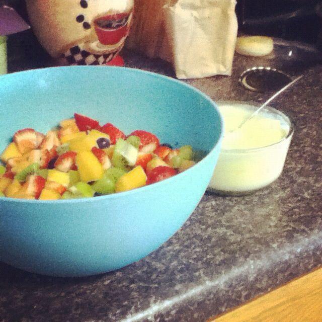 Fruit Salad and pineapple dip!!!(: