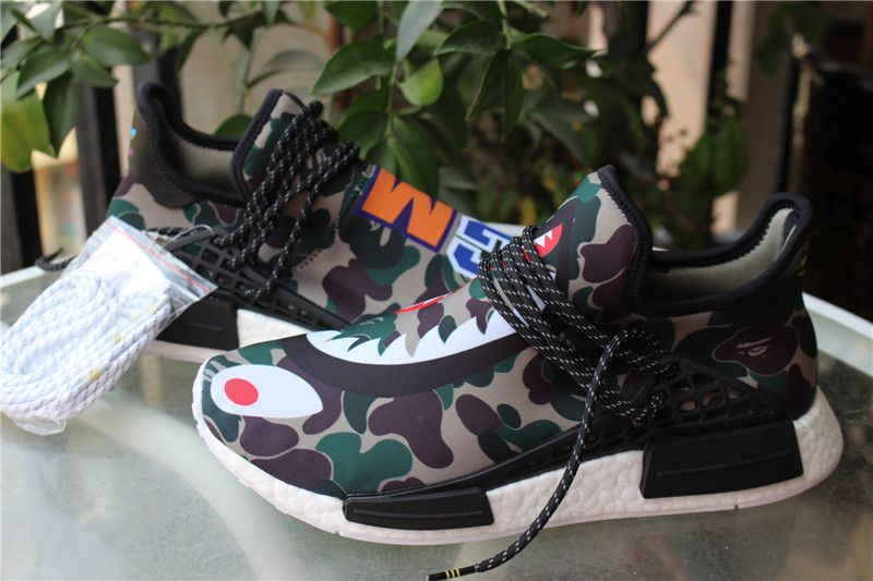 cheaper af8fb 460d9 Adidas Human Race NMD X BAPE Green Camo | Shoes | Jordan ...