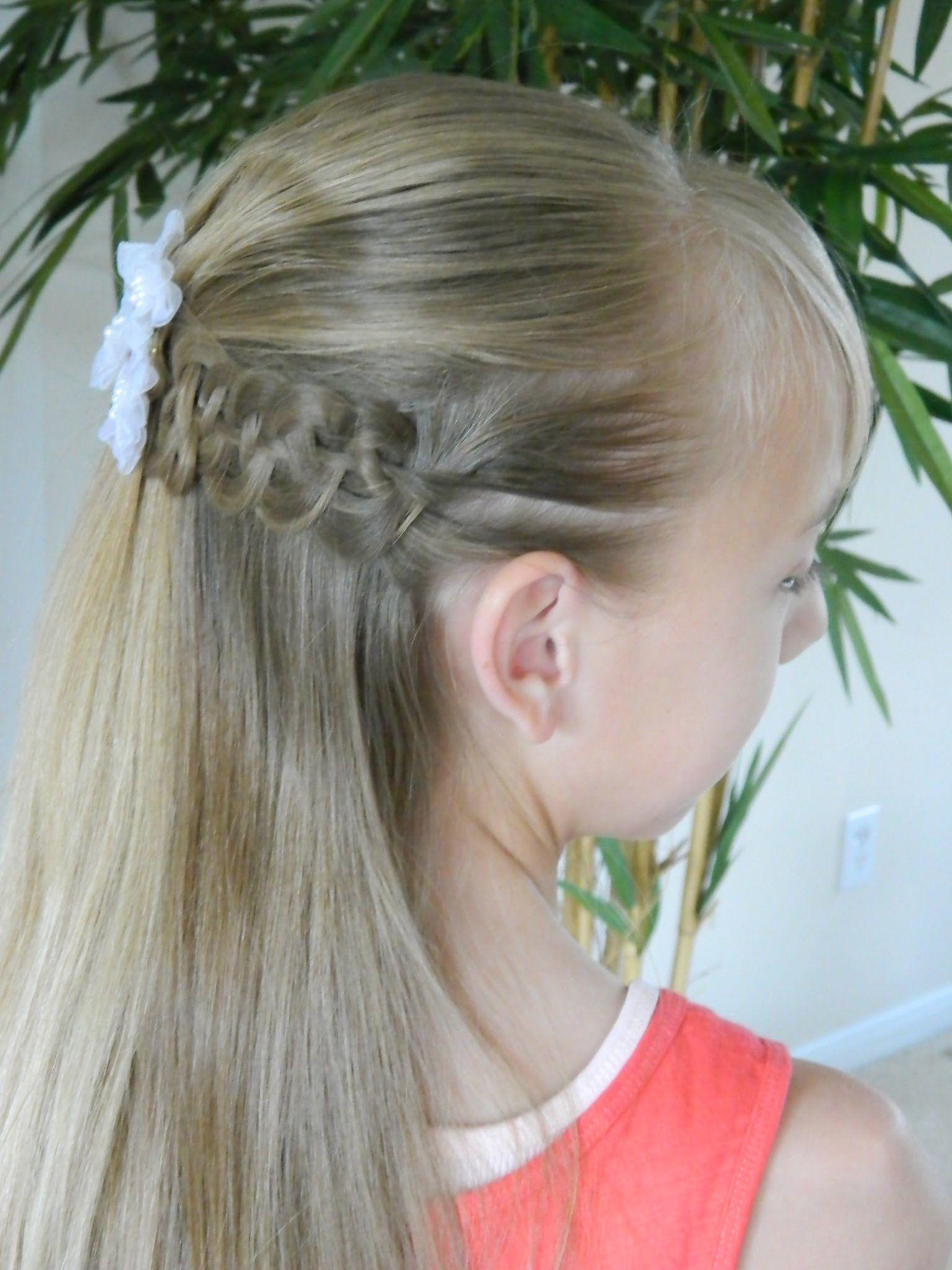 best first communion hairstyles 3/3 / pompidou & 4 strand braid