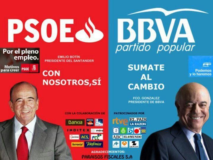 Políticos y banqueros