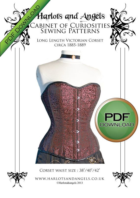 Corset Sewing Pattern, XL Plus sized Pdf Digital Download for Tight ...