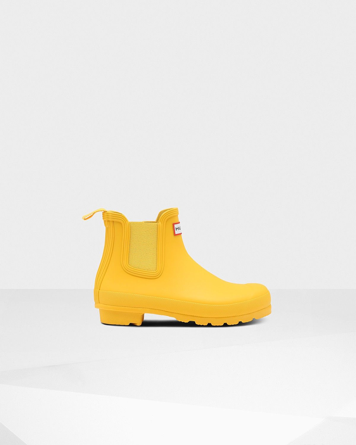 new concept 8aa36 d15d5 Hunter Women's Original Chelsea Boots: Yellow - Us 5 | Feel ...