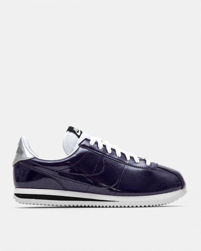 buying new vast selection good texture Nike Cortez Basic PRM QS (Ink | White | Metallic Silver ...