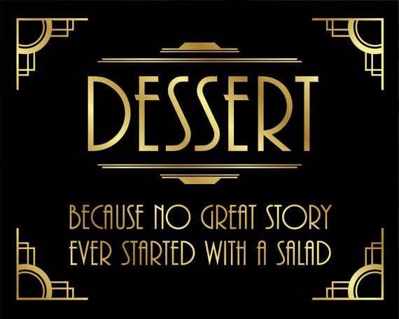Gatsby Party Printables / DESSERT