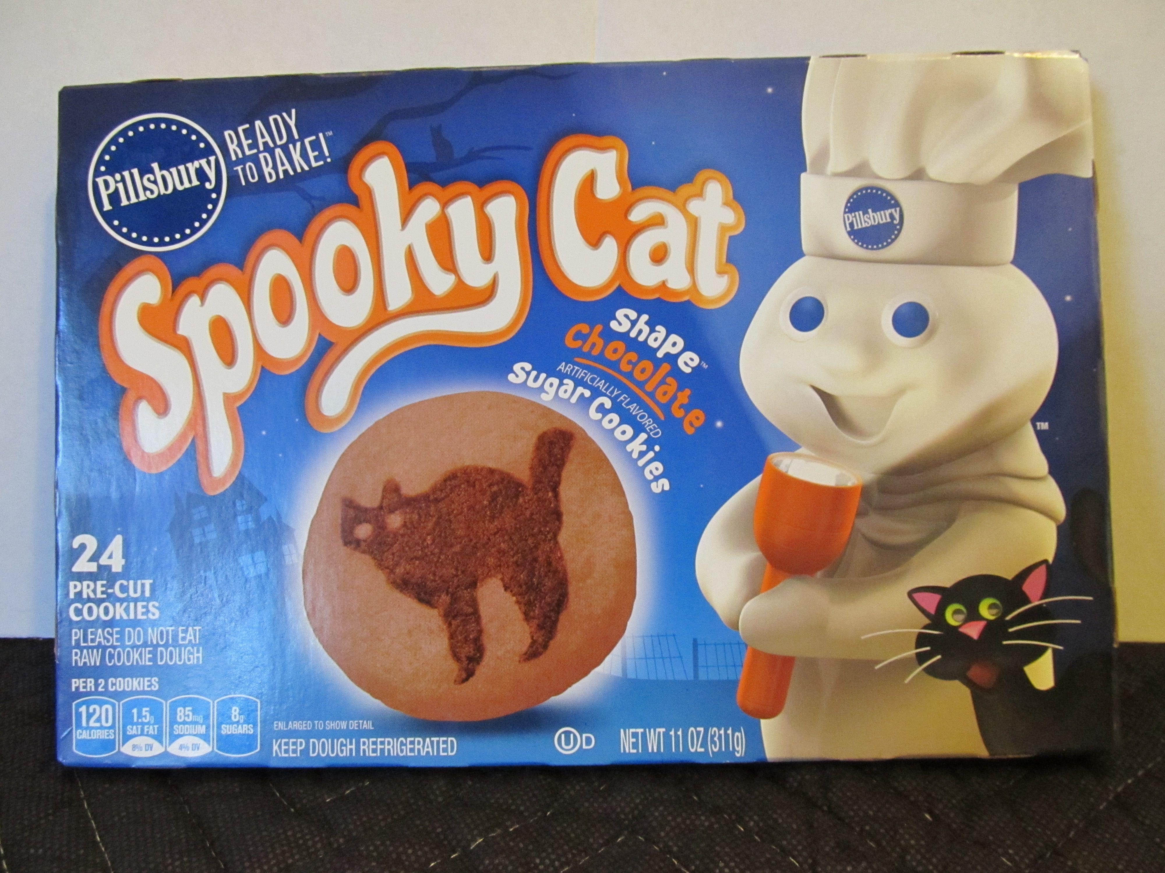 pillsbury halloween cookies. (spooky cat, 2014 package) | halloween