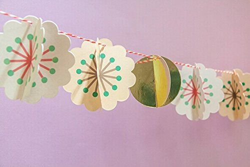 sunbeauty paper flower banner bunting for wedding decoration birthday party baby shower hanging pendant decor banner sunbeauty