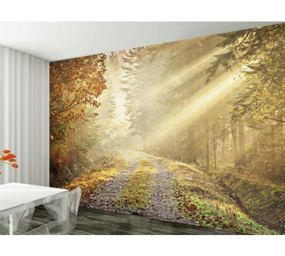 Buy 1wall winter forest road wall mural at argos co uk visit argos