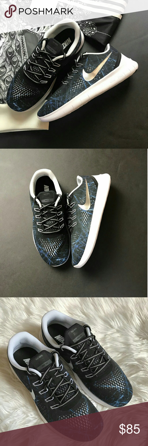 NWT Nike ID blue and black. Brand New no box custom made Nike ID! Price is  firm. Nike Free running shoes brings you miles of comfort with an  exceptionally ...