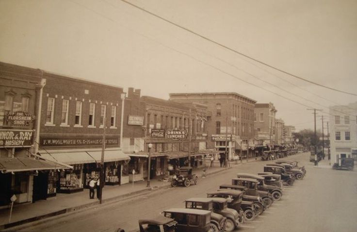 South Side Of Square On Louisiana St Mckinney Tx Woolworths Mckinney Texas Grand Hotel Texas History
