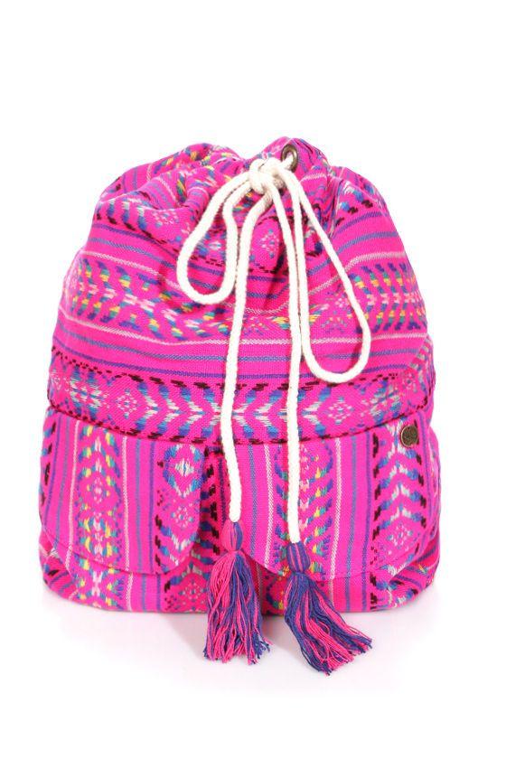 01e8f33e6 Billabong Canyon Cruz Hot Pink Tribal Print Backpack