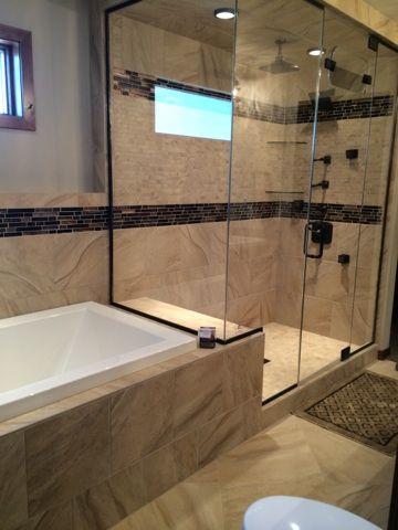 Shower & tub surround combo