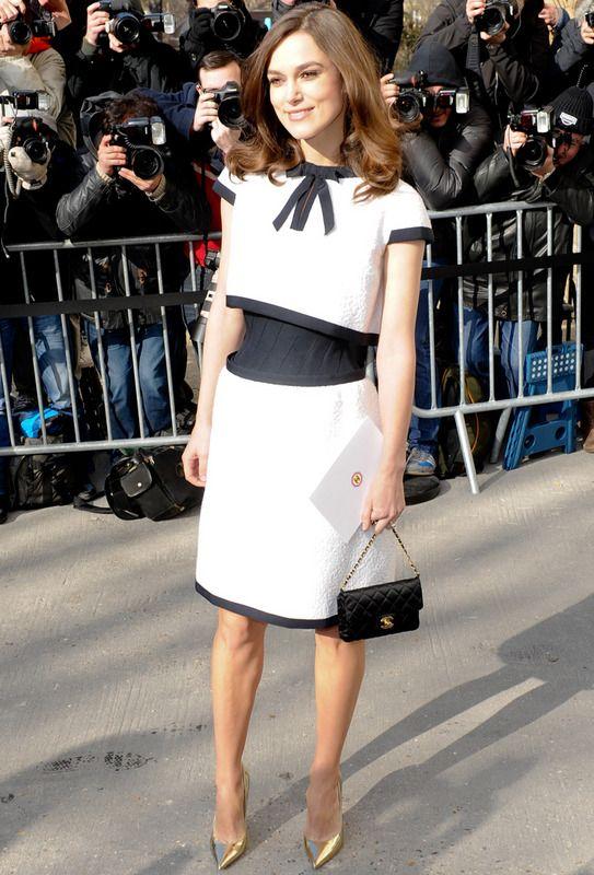 Vestido chanel blanco y negro
