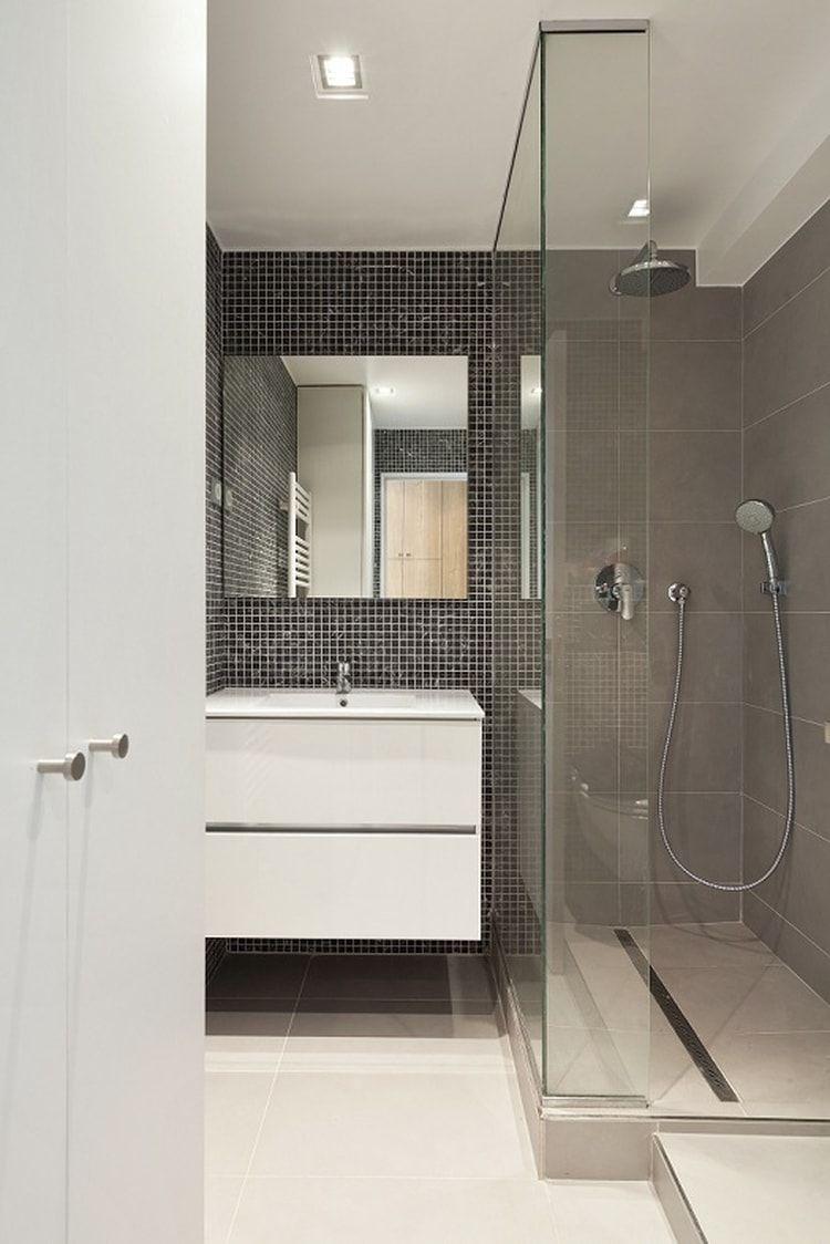 Petite salle de bains avec douche l 39 italienne d co - Exemple amenagement salle de bain ...