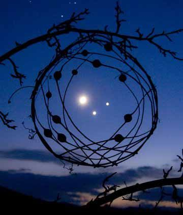 Image result for dreamcatcher against a background of stars and moon