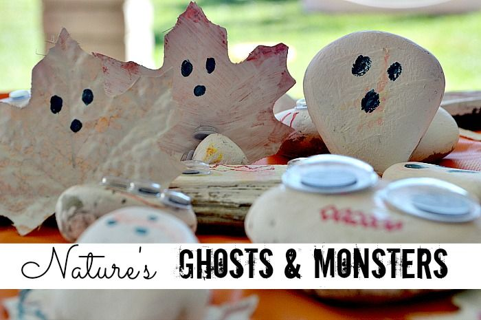 Halloween Crafts for Kids  Nature Ghosts Holidays Pinterest - how to make halloween decorations for kids