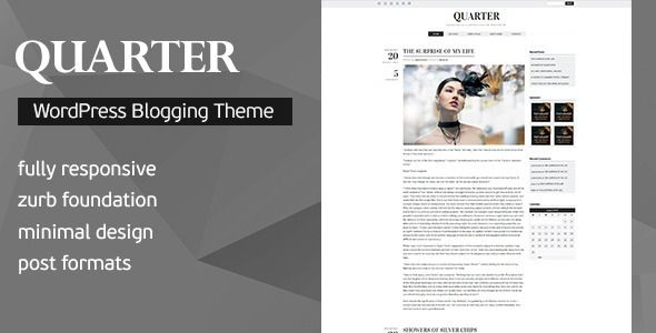 Quarter v2.1 – Responsive WordPress Blogging Theme