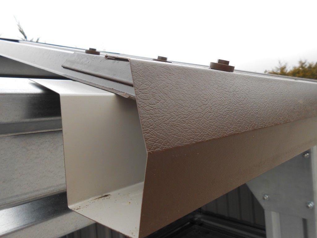 Best Gusclad Highline Gutter Self Hang Fits Under Metal Roof 640 x 480