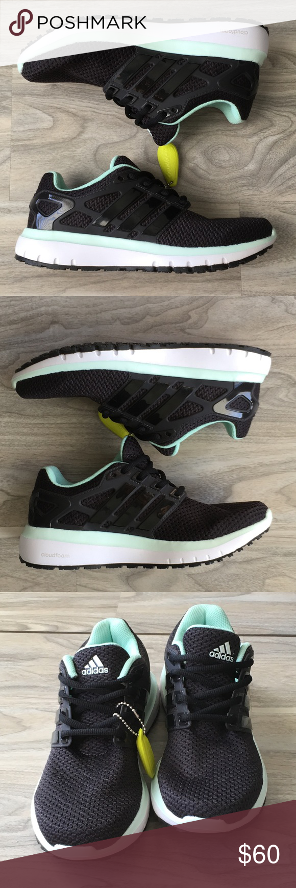 adidas nero blu nuvola di energia le scarpe da ginnastica nwt mint colore, adidas