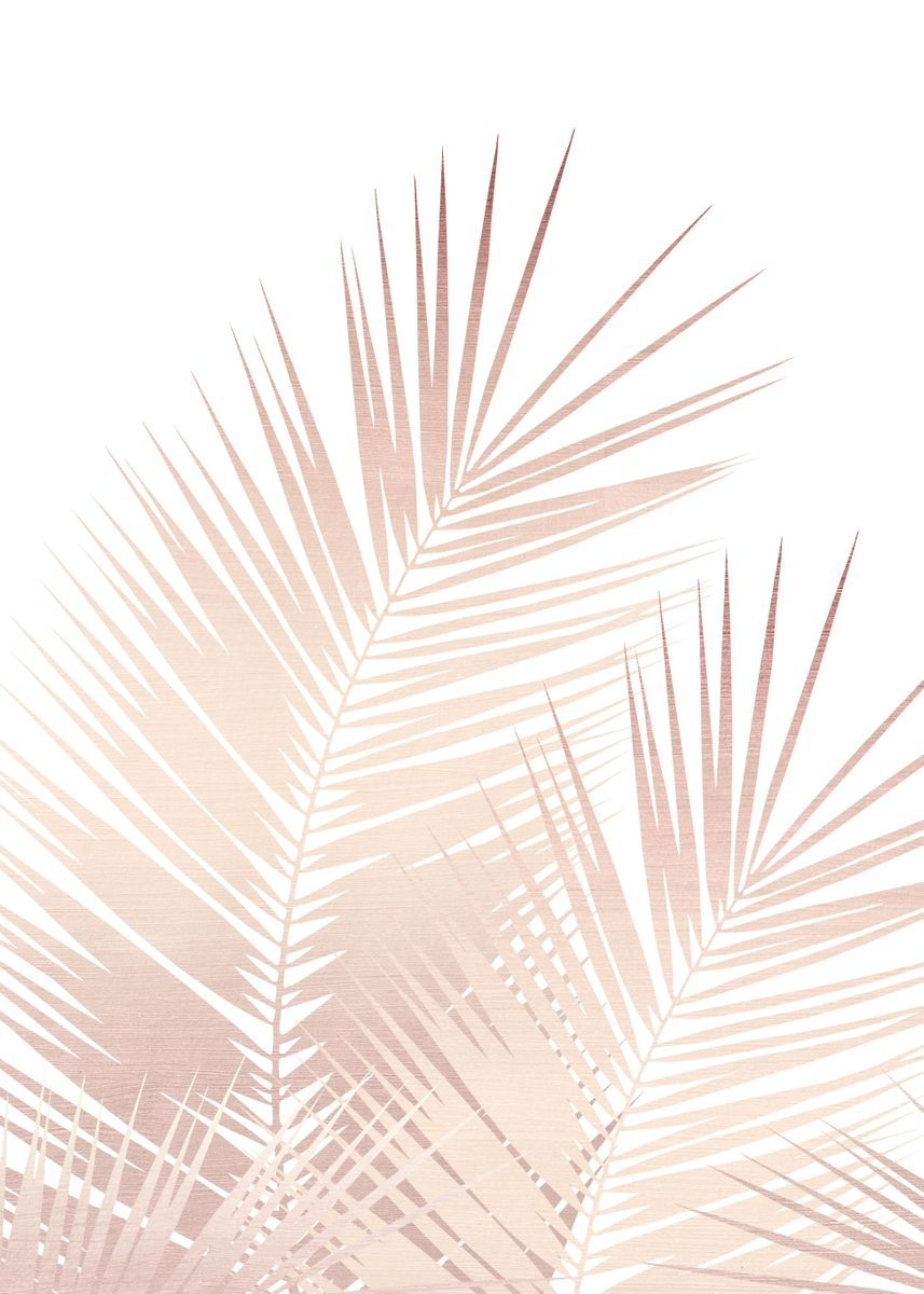 Rose Gold Palm Leaves 1 Poster Art Print By Anita S Bella S Art Displate In 2021 Gold Abstract Wallpaper Rose Gold Wallpaper Palm Leaf Wallpaper