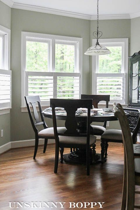 plantation shutters in bay window featured on unskinny boppy rh pinterest com