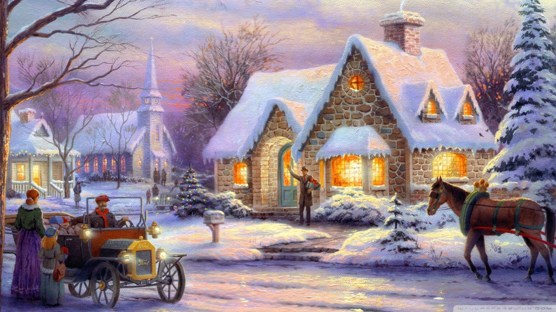 Thomas Kinkade Wallpaper 1920x1080 Memories, Of, Christmas, By, Thomas .