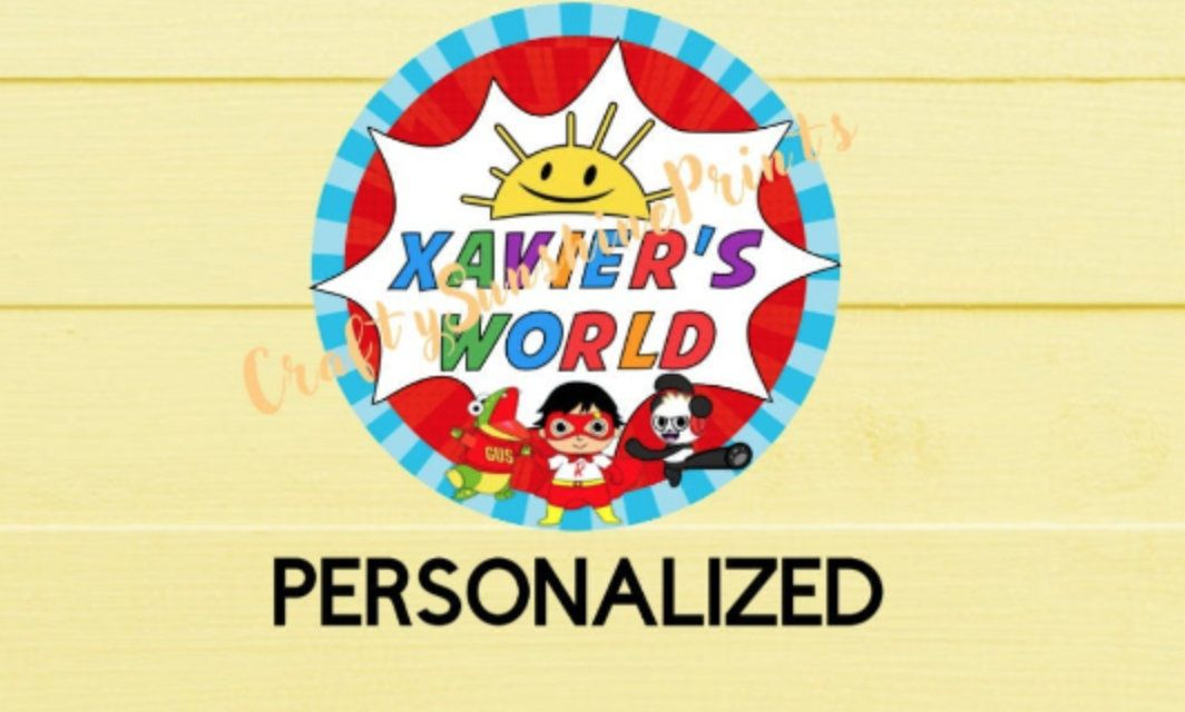 Digital Download Only Personalized Ryans World Stickers Gift Etsy Gift Labels Stickers Printable Stickers Birthday Labels