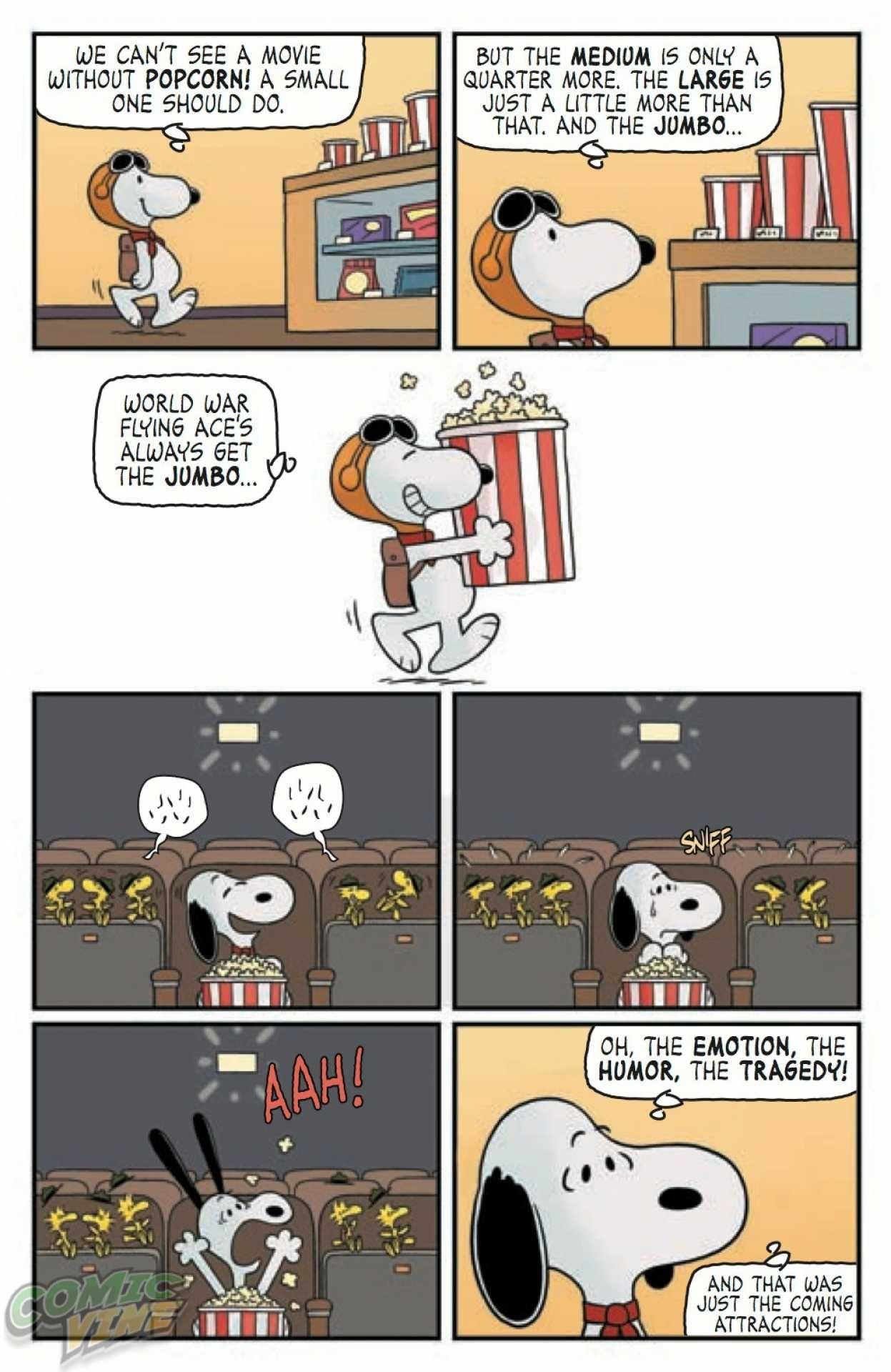Kaboom Peanuts Series 2 12 Movie Time 5 Snoopy Tirinhas E