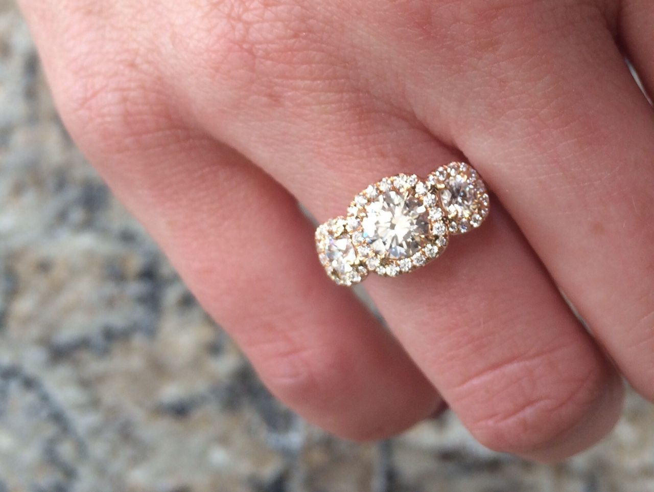 Three-stone beauty with Forevermark Diamonds! | Rose Gold Jewelry ...