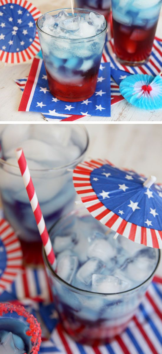 Layered Patriotic Punch | 15 Easy 4th of July Party Food Ideas for a Crowd | Red White and Blue Party Food Ideas for Kids