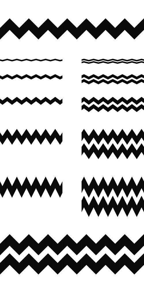 Graphic Design Elements Zigzag Line Page Divider Set Design Elements Graphic Design Wave Illustration