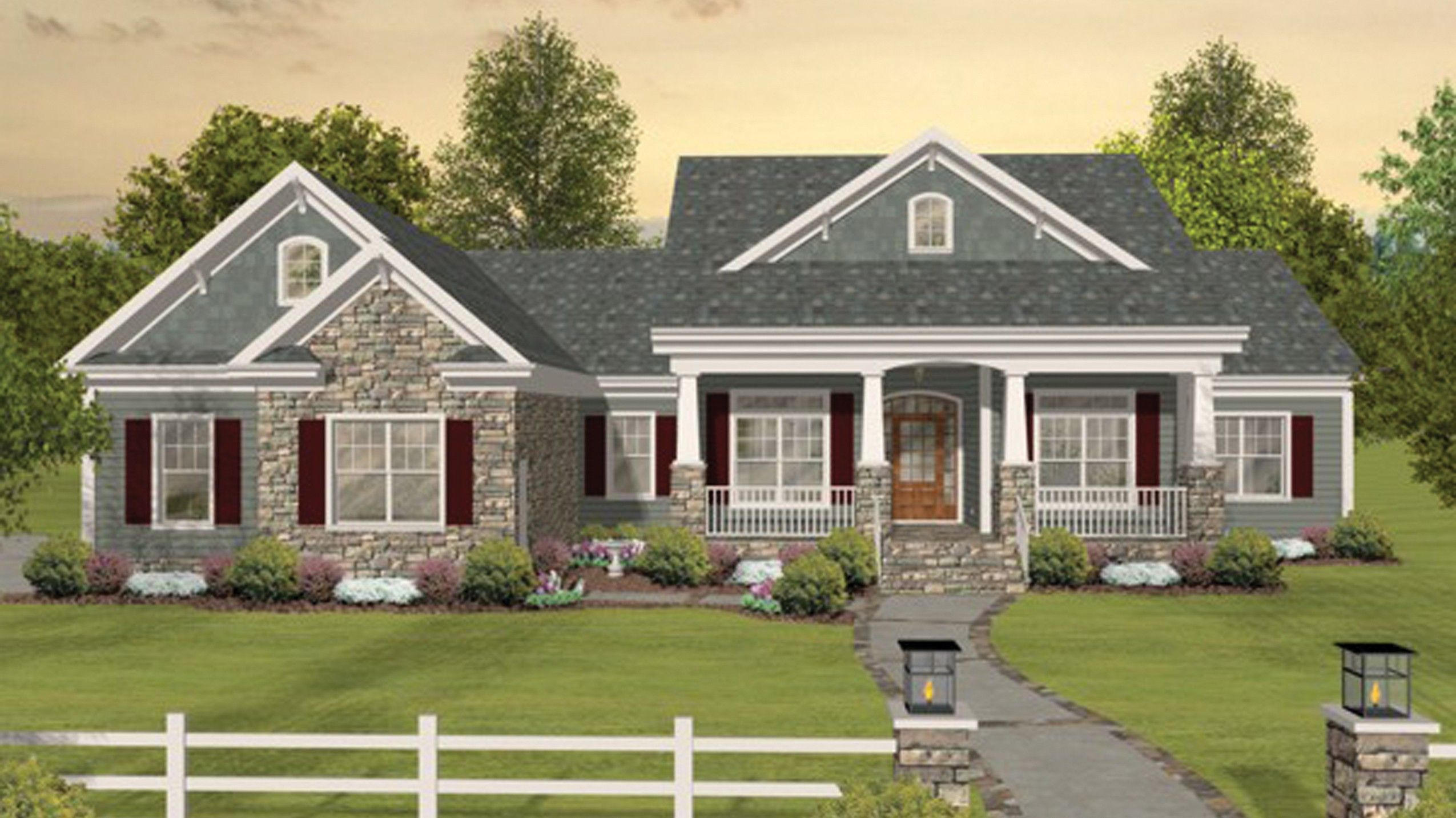 Home plan homepw03117 2156 square foot 3 bedroom 3 for Home plan com