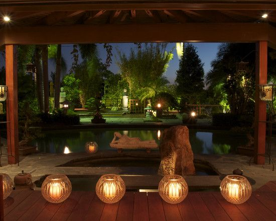 candle lights make it look peaceful .Asian Resort Lobby Design, Pictures, Remodel, Decor and Ideas