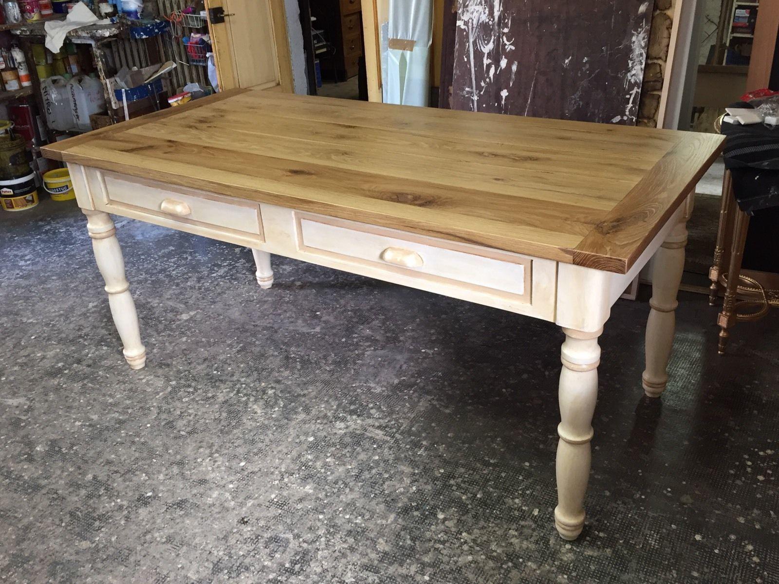 Tavolo vintage ~ Tavolo vintage in legno shabby di nuova costruzione arte e