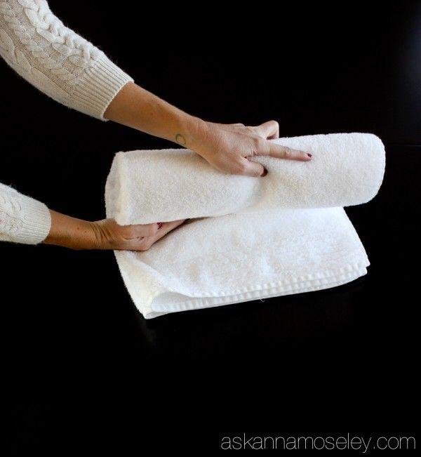 How To Fold Bath Towels For Organized Cupboards Folding Bath