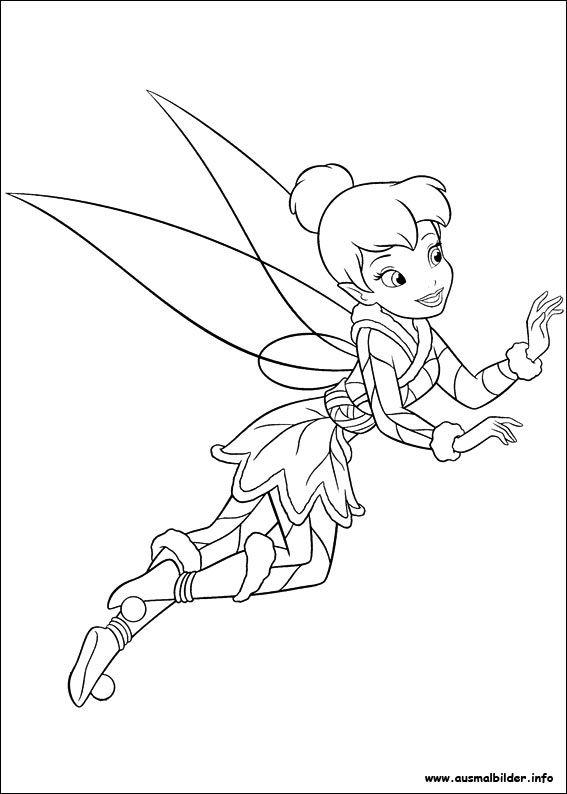 Tinkerbell Das Geheimnis Der Feenflügel Ausmalbilder 02 Color