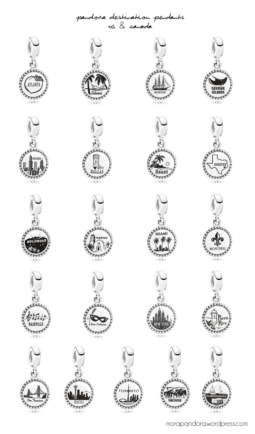 Pandora Destination Collection 2014  Pandora charms in