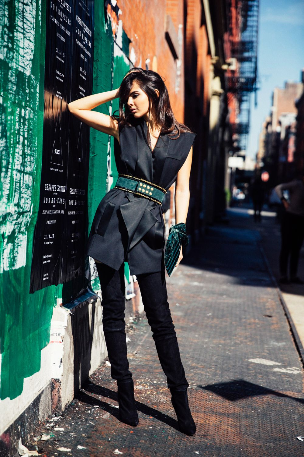 doina-ciobanu-hm-x-balmain-new-york-thigh-high-boots-green-belt 5 ...