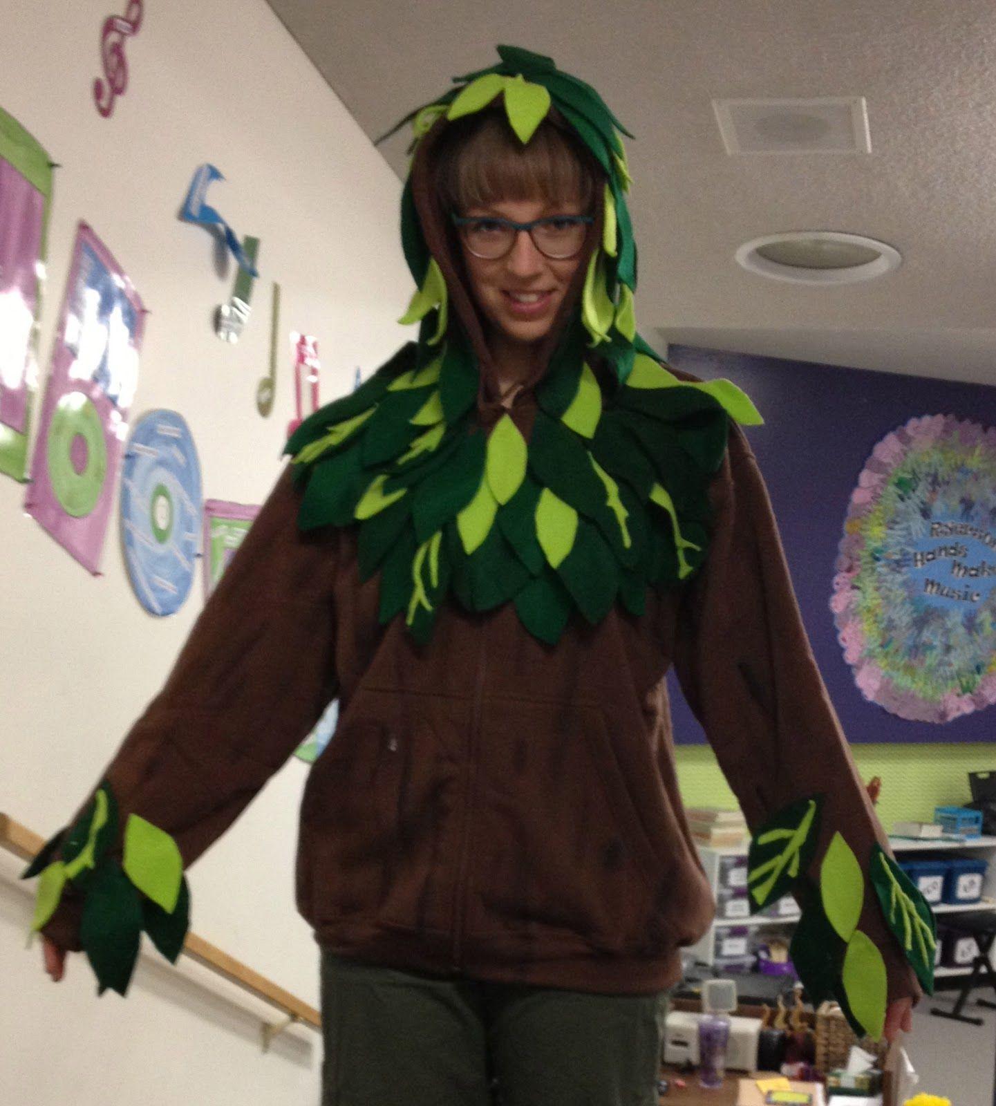 Homemade Tree Costumes For Children Ta Da Here I Am In