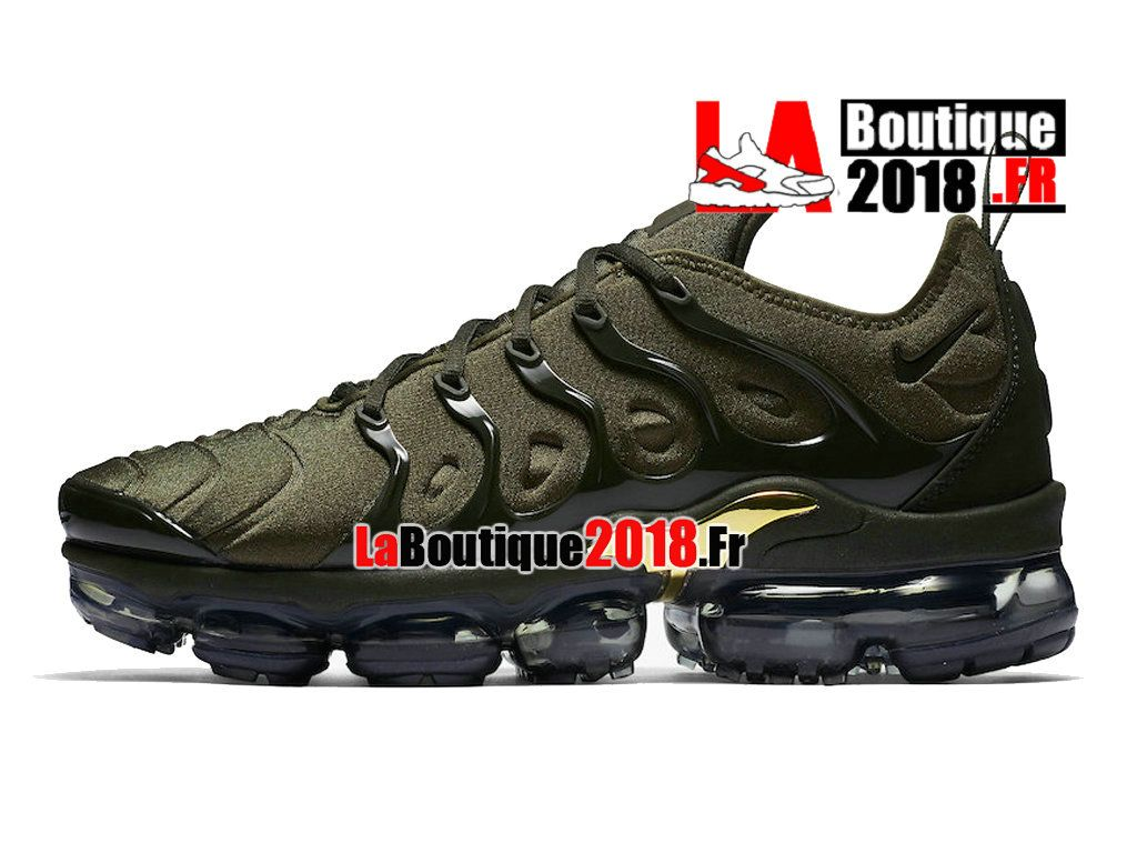 bd971a20fa37 Officiel Nike Air VaporMax Plus 2018 - Chaussures Nike Sneaker TN Prix Pour  Homme Vert Noir