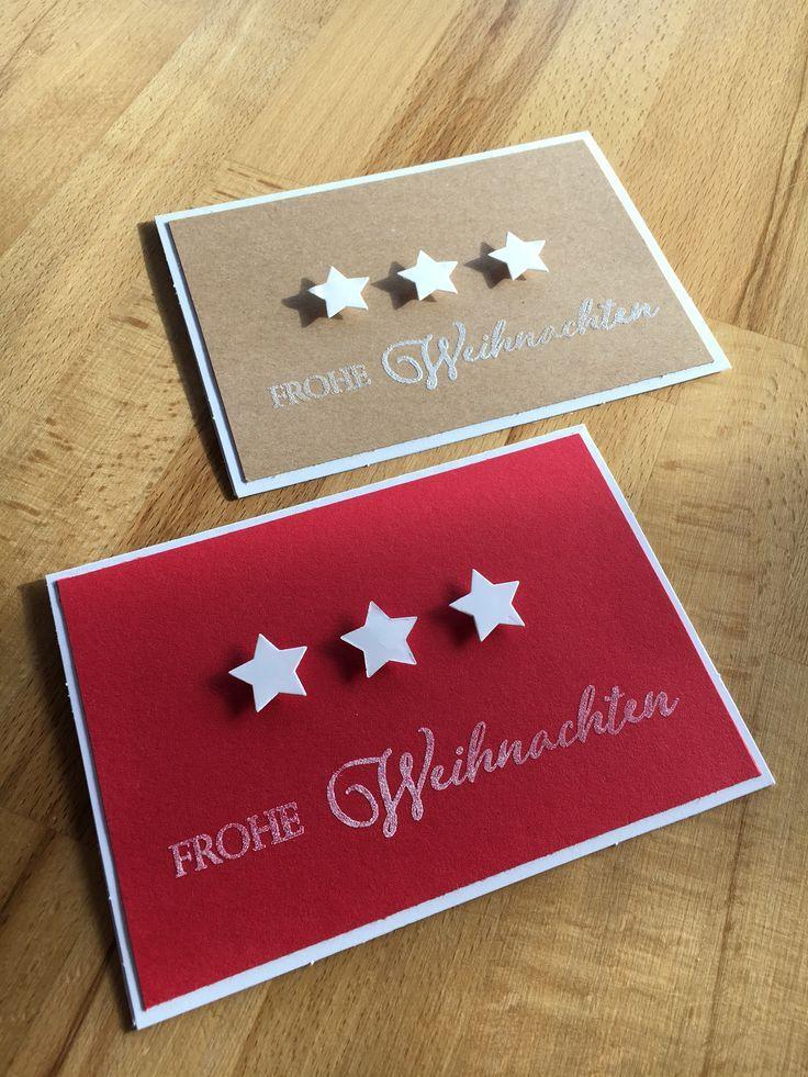 Weihnachtskarte aus Sternen #weihnachtskartenspruch
