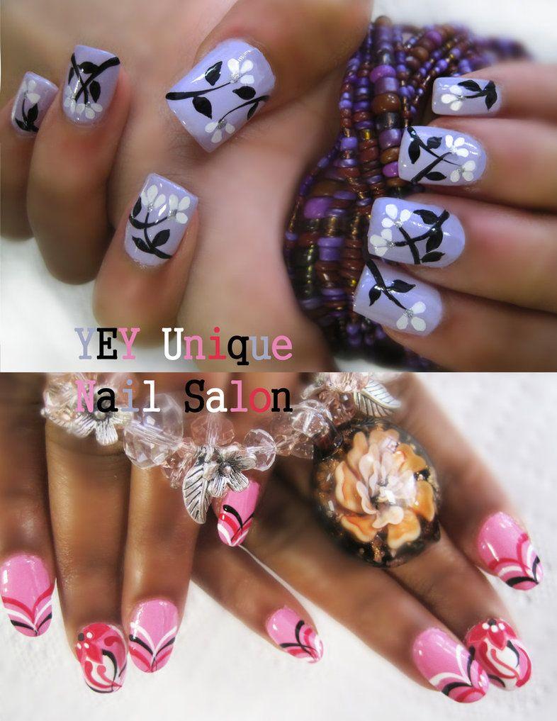Simple flower nail nails pinterest simple flowers flower