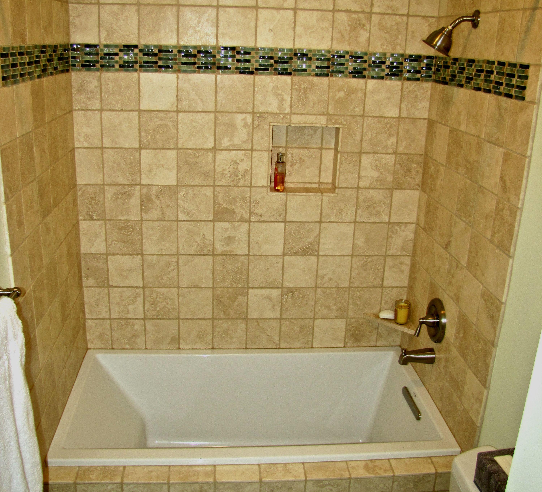 Soaking Tub With Tile Surround