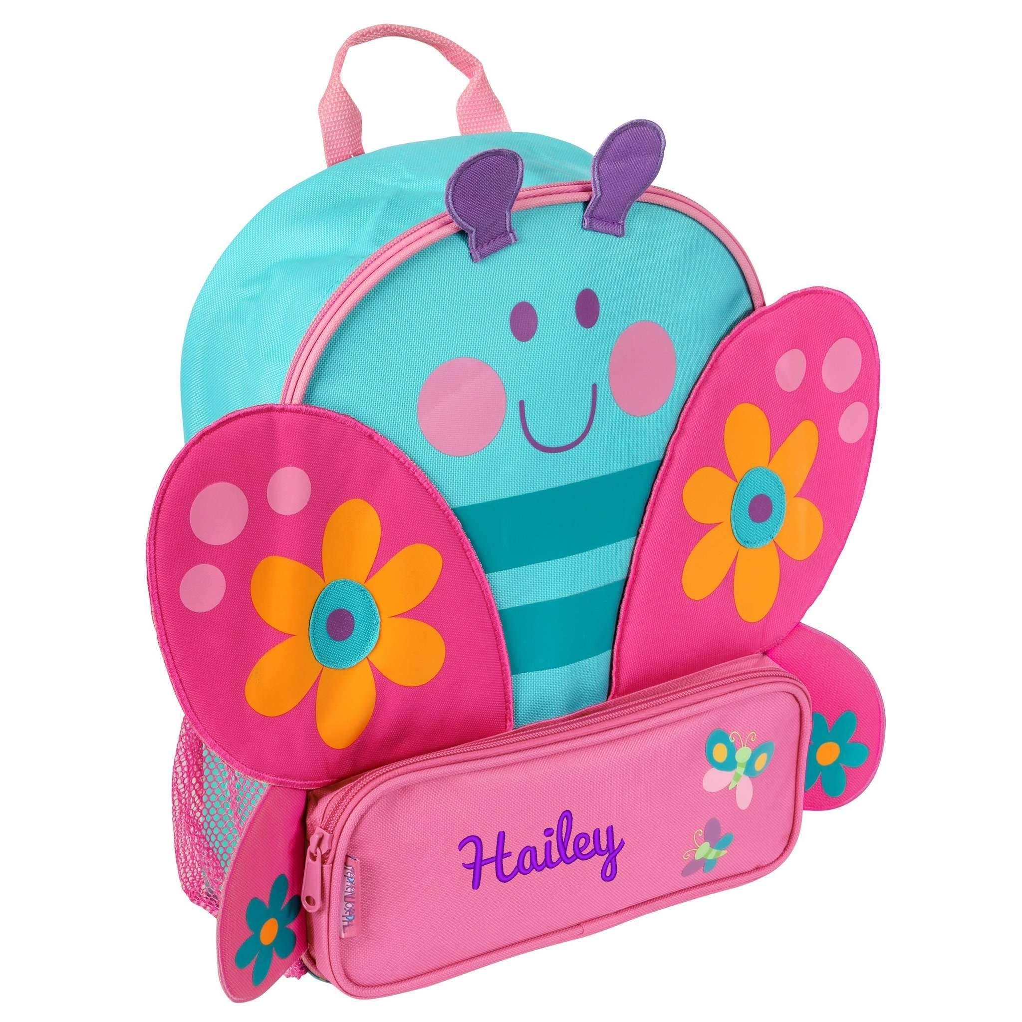 3823e6f1a364 Personalized Preschool Backpack - Stephen Joseph - Sidekick - Cat in ...