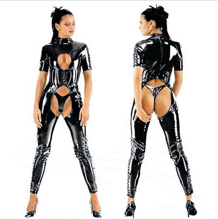 Plus size fetish lingerie latex leather