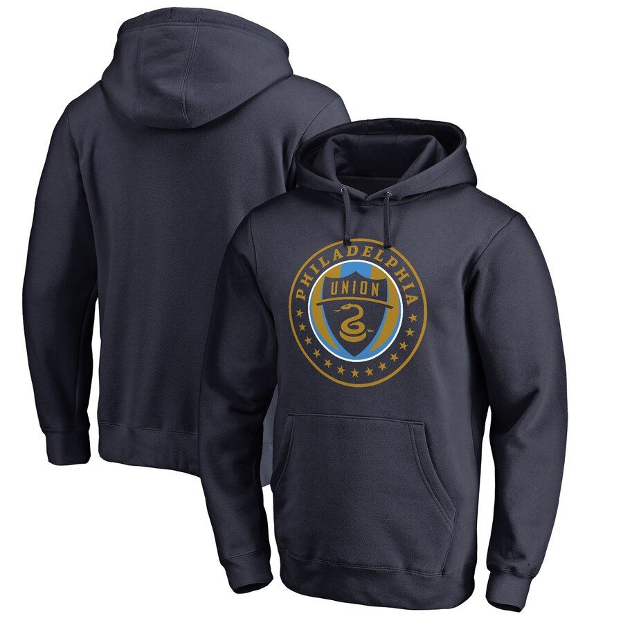 Philadelphia Union Fanatics Branded Primary Logo Pullover Hoodie Navy Hoodies Pullover Hoodie Denver Nuggets