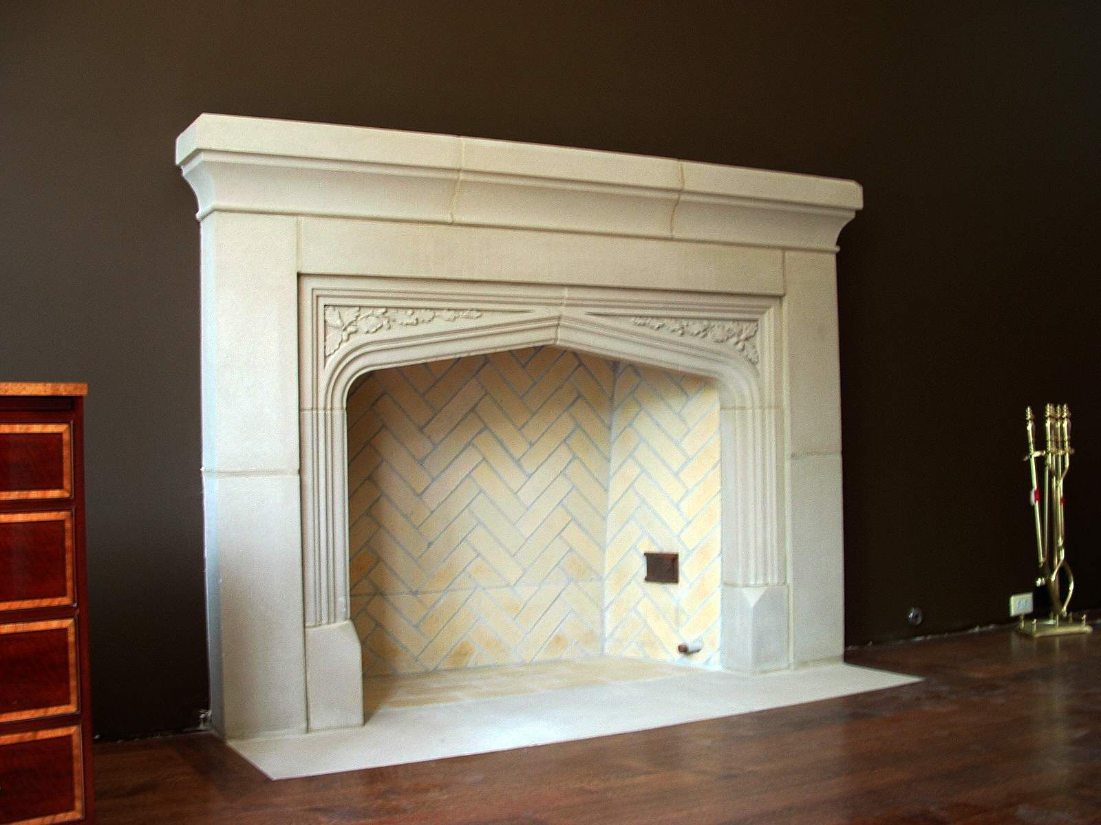 Cast Stone Electric Fireplace  Electric Fireplace Stone