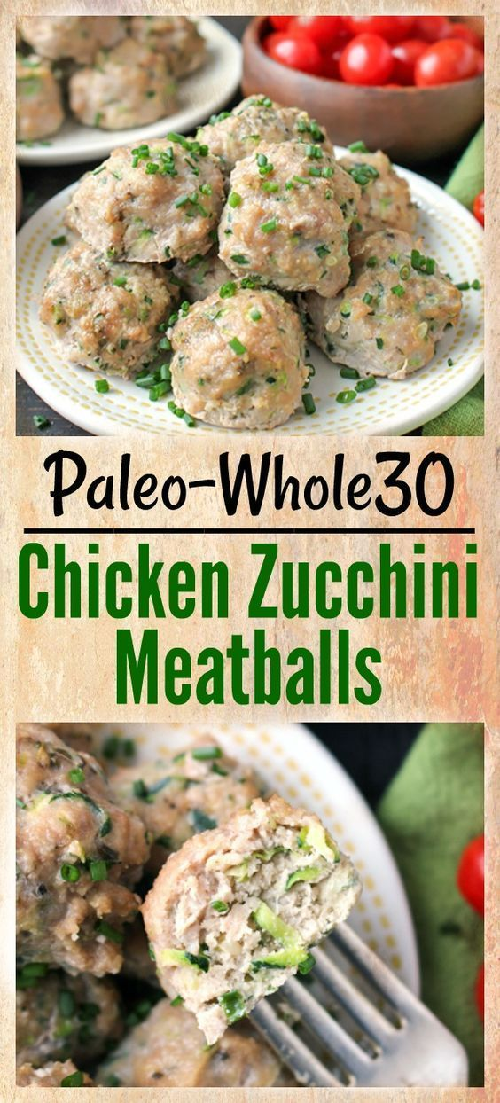 These Paleo Whole30 Chicken Zucchini Meatballs are so delicious and easy to make...   - Ditch Your Nutritionist -