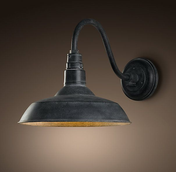 Sarah Pinyan Posted Front Door Light Option Vintage Barn Sconce Weathered Zinc At Restoration Hardware To Her Walls Stash Postboard Via The Juxtapost