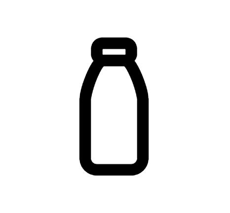 Milk Bottle Icon In Android Style This Milk Bottle Icon Has Android Kitkat Style If You Use The Icons For Android Apps We Re Milk Bottle Bottle Logo Cow Logo